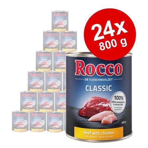 Rocco 24x800g Rind mit Wildschwein Rocco Hundefutter nass
