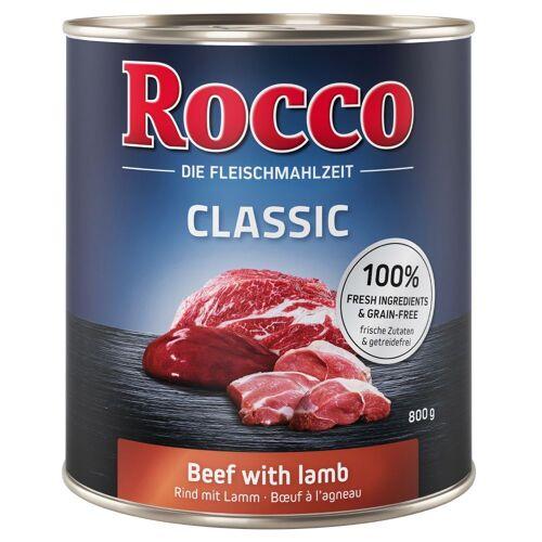 Rocco 6x800g Classic mit Rind & Wildschwein Rocco Hundefutter nass