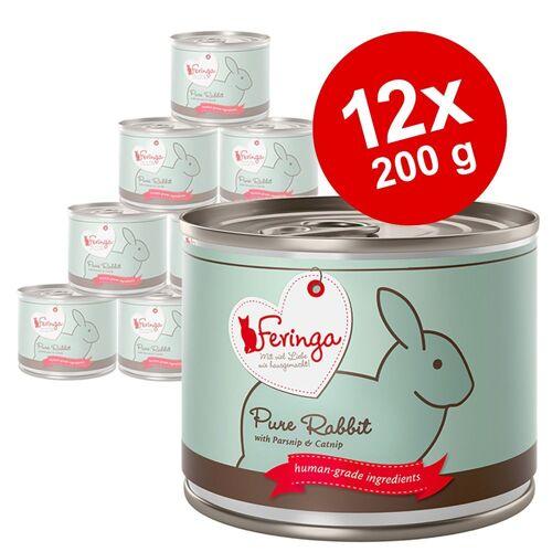 Feringa 12x200 g Pure Meat Menü Ente mit Hüttenkäse Feringa Katzenfutter nass
