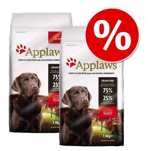 Applaws 2 x 7,5kg Senior Huhn Applaws Hundefutter trocken