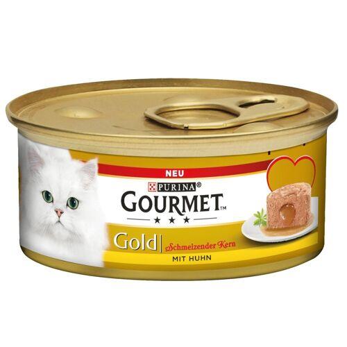 Gourmet 12 x 85g Schmelzender Kern Huhn Gourmet Gold Katzenfutter nass