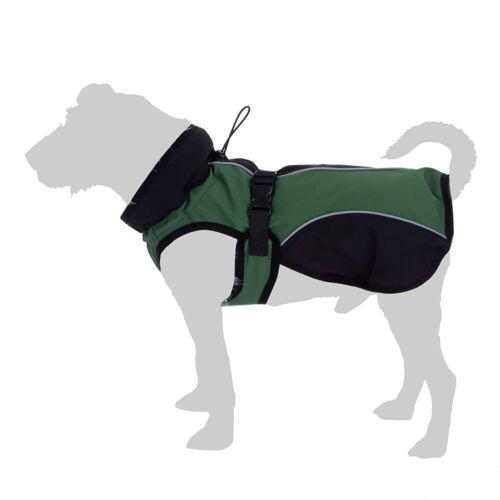 zooplus Exclusive Softshell-Hundemantel ca. 55 cm grün Hund