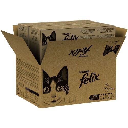 Felix 80 x 100 g Felix pouches Jelly and Gravy Katzennassfutter