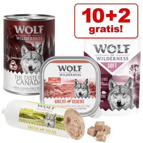 Wolf of Wilderness 10 + 2 gratis! 12 x 400 g Wolf of Wilderness Nassfutter - Wide Acres - Huhn