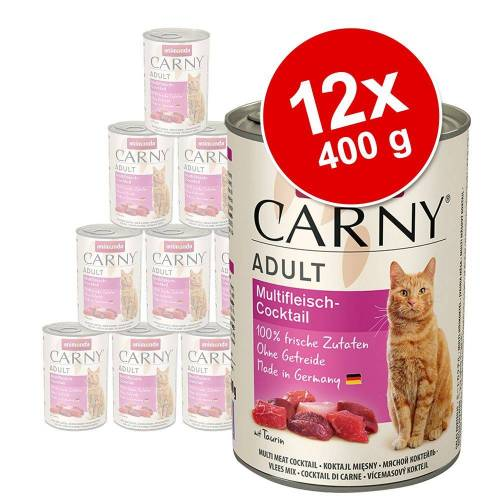 Animonda Carny 12 x 400g Adul Huhn & Ente Animonda Carny Katzenfutter nass