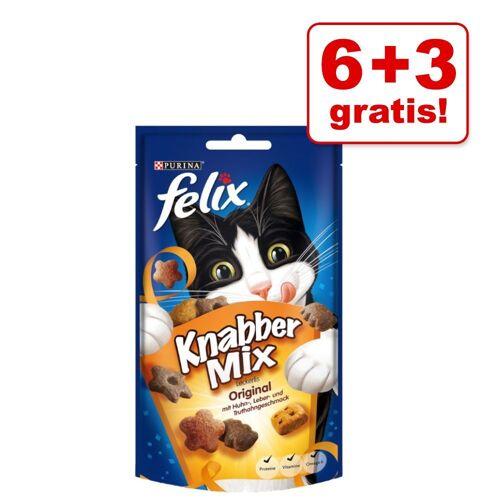Felix 9x60g KnabberMix Grillspaß Felix Katzensnacks - 6 + 3 gratis!