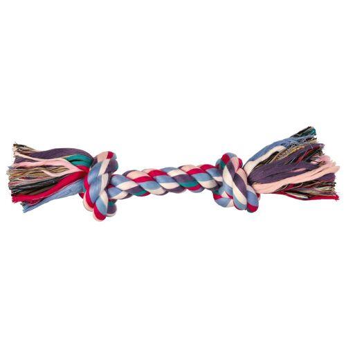 Buntes Hundespielzeug Spieltau mit 37 cm und 2 Knoten Welpenspielzeug
