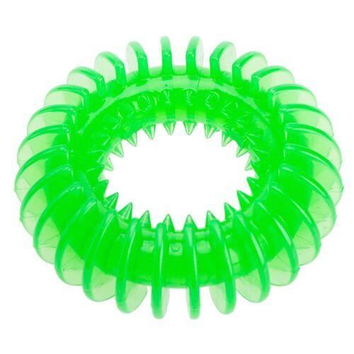 TPR Ring grün 11,5 cm Welpenspielzeug, Hundespielzeug