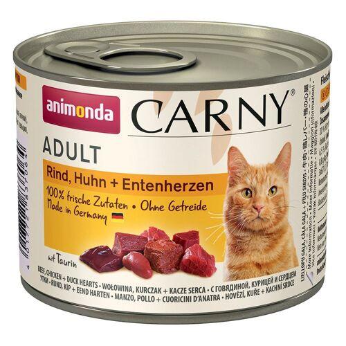 Animonda Carny 6 x 200g Rind & Huhn Animonda Carny Katzenfutter nass