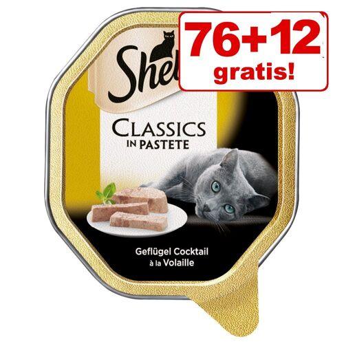 Sheba 88x85g Mousse mit Huhn Sheba Katzennassfutter - 76 + 12 gratis!