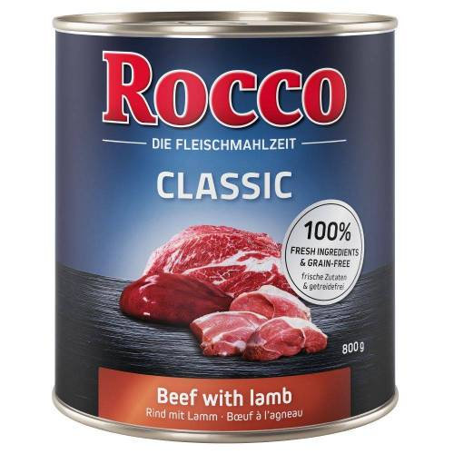 Rocco 6x800 g Rocco Classic Hundenassfutter Rind pur