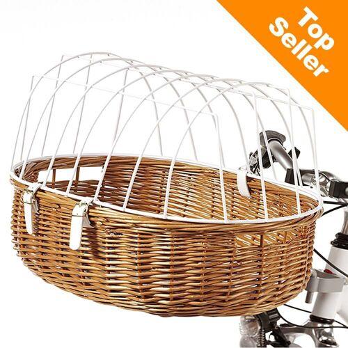 Aumüller Hunde-Fahrradkorb mit Schutzgitter, Maxi mit L 70 x B 46 x H 40 cm