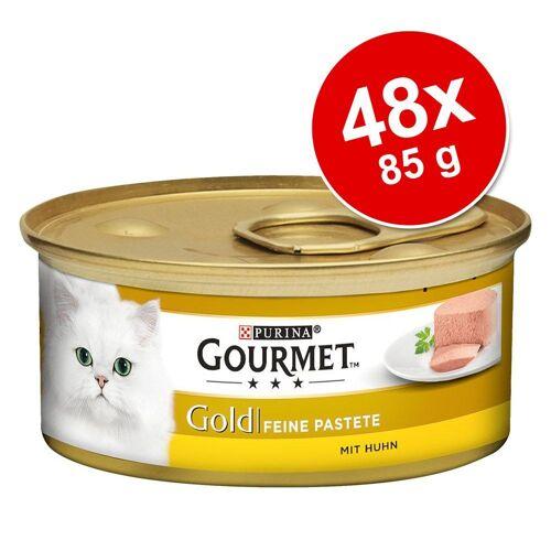 Gourmet Megapck: 48x 85 g Gourmet Gold Feine Pastete Katzennassfutter, Rind