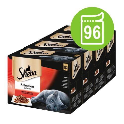 Sheba 96 x  85g Selection in Sauce Feine Vielfalt Sheba Katzenfutter nass