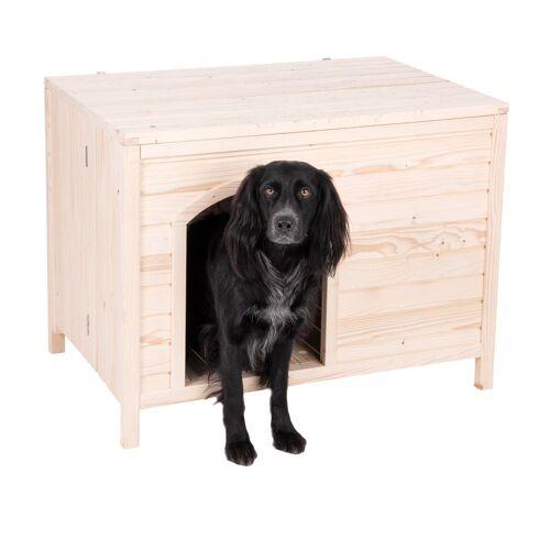 Haustier Holzhütte Laavu Größe L: B 115 x T 74,5 x H 83 cm Hund