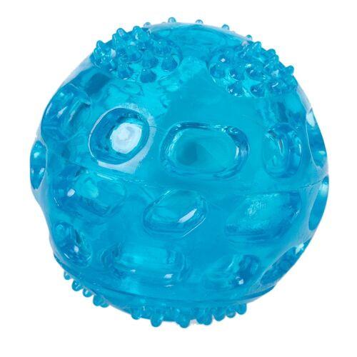Hundespielzeug LED Ball aus TPR, blau, 1 Stück Ø 6 cm