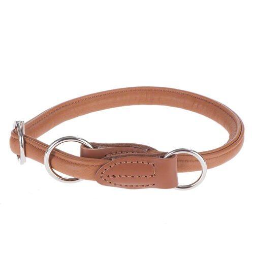 HUNTER Hundehalsband Round & Soft Elk cognac  bis max 55 cm