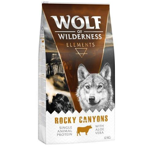 Wolf of Wilderness 1kg Rocky Canyons Rind Wolf of Wilderness Hundefutter
