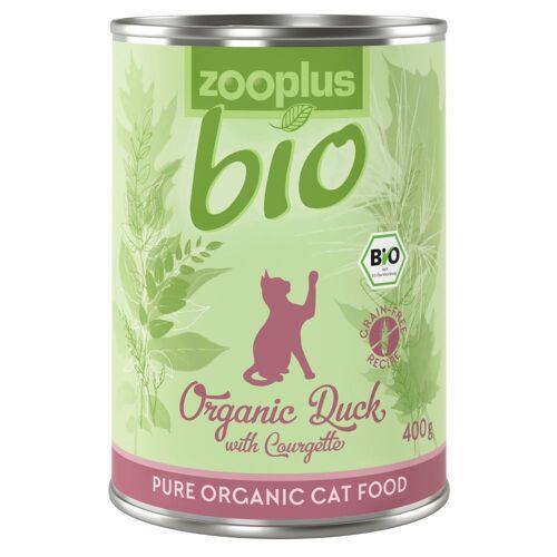 zooplus Bio Ente mit Zucchini - 6 x 85 g