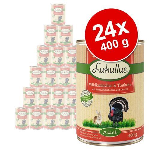Lukullus 24 x 400 g Junior Mix Lukullus Hundefutter nass