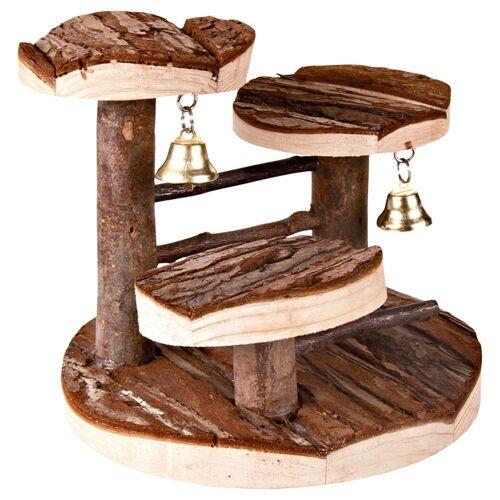 Kletterbaum für Hamster aus Naturholz - L 15 x B 14 x H 14 cm
