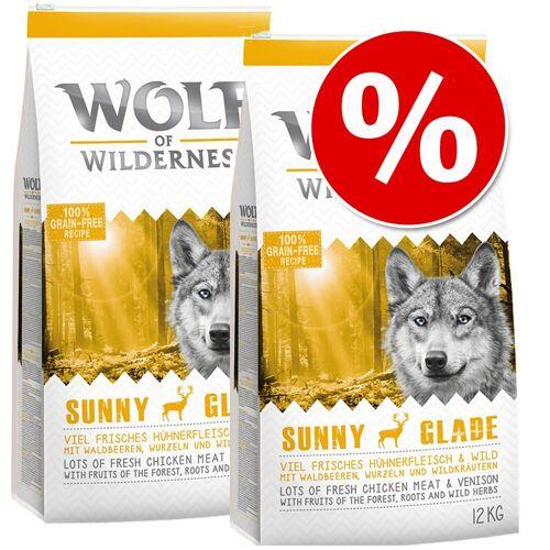 Wolf of Wilderness 2x12kg Sunny Glade Hirsch Wolf of Wilderness Trockenfutter Hund