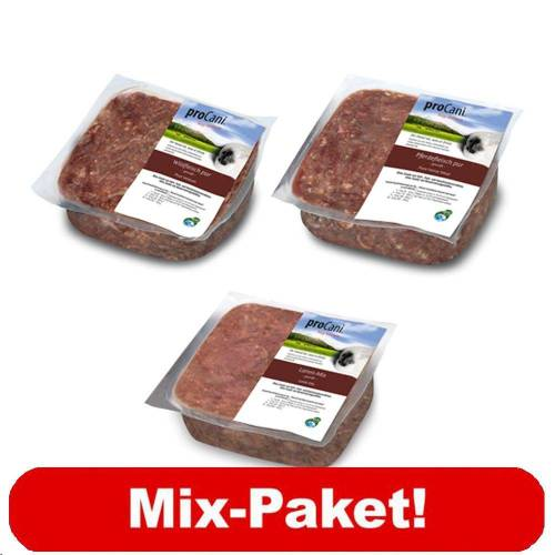 60 x 400 g proCani BARF Hypoallergen-Paket - Hundefutter, Frostfutter