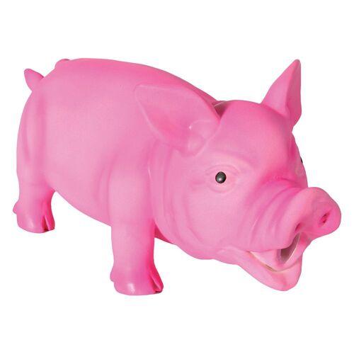 Hundespielzeug Latex-Schwein mit Stimme - 1 Stück 15 cm