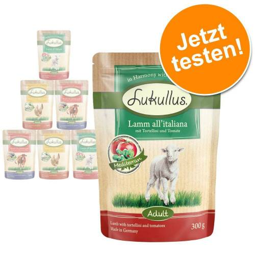 Lukullus Nassfutter für Hunde Frischebeutel Geflügel und Lamm