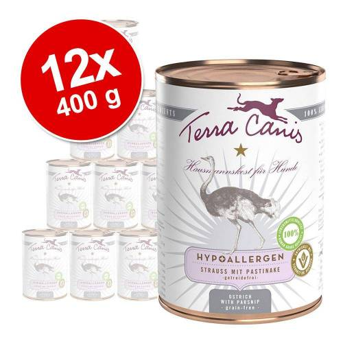 12 x 400 g Terra Canis Hypoallergen Hundefutter - Pferd mit Topinambur