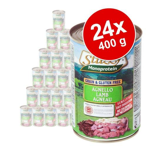 24 x 400g Monoprotein Lamm Stuzzy Dog Hundefutter nass