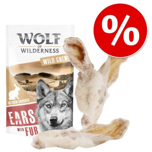 Wolf of Wilderness 200 g Wolf of Wilderness Kauohren mit Fell Hundesnack