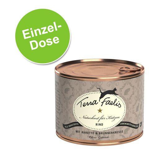 200g Fleisch Menü Rind, Karotte & Brunnenkresse Terra Faelis Katzenfutter nass getreidefrei