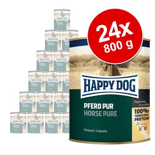 24 x 800g - Lamm Pur Happy Dog Hundefutter nass
