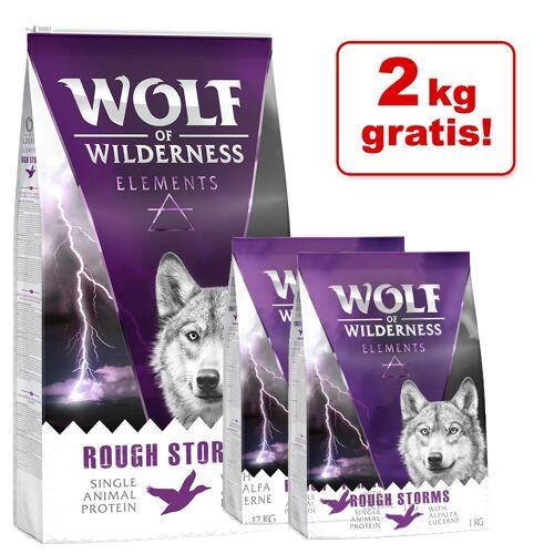 Wolf of Wilderness 12+2 kg gratis! Wolf of Wilderness Trockenfutter - Senior - Soft Wde Acres - Huhn