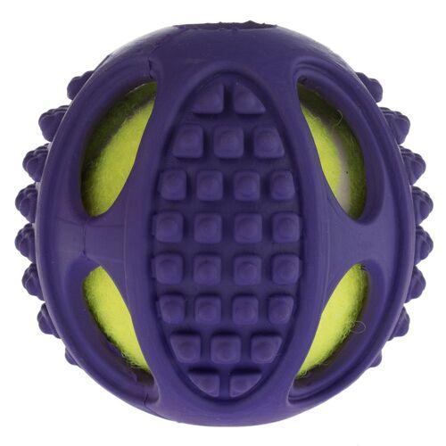 Hundespielzeug Gummi-Tennis-Ball 2in1 Ø6cm