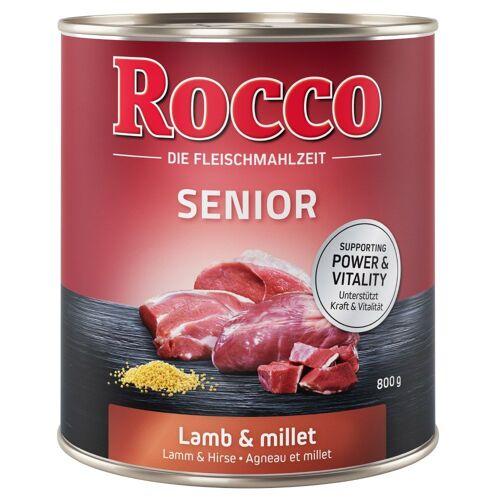 Rocco 6x800g Geflügel & Haferflocken Rocco Senior Hundefutter nass