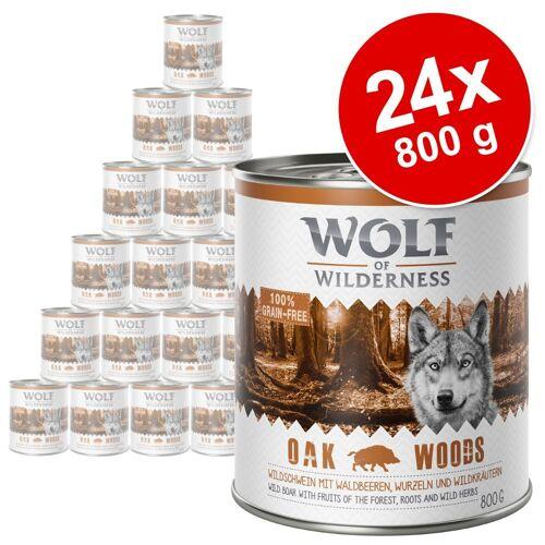 Wolf of Wilderness 24x800g Adult Black Rocks Ziege Wolf of Wilderness Hundenassfutter