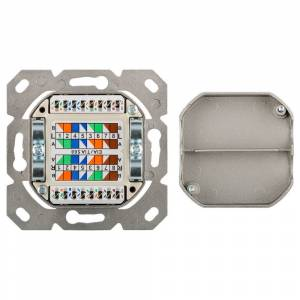 Goobay NET CAT6a Netzwerkdose aufbau universal weiß - keystone geeignet - RJ45