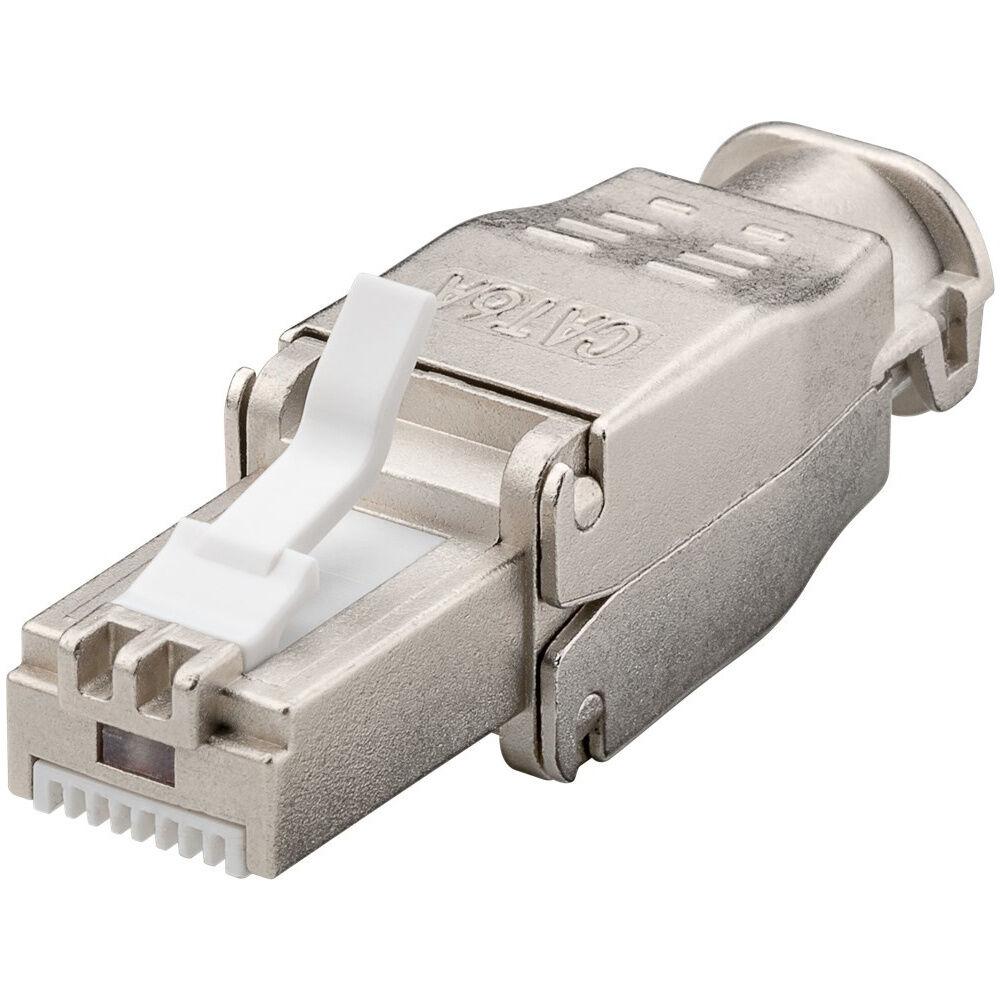 Goobay CAT6a RJ45 connector plug - STP - RJ45 - für Internet-Kabel - Ethernet-Kabel - CAT-Kabel - werkzeuglos