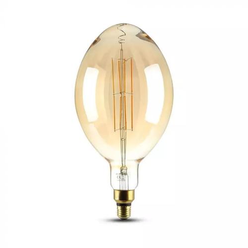 V-TAC LED-Glühbirne Amber gerade Glühbirne 8 Watt E27 2000K dimmbar