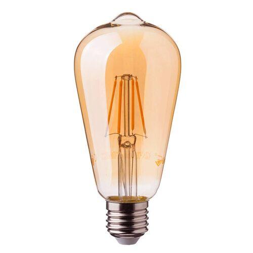 V-TAC LED Glühbirne ST64 mit E27 Fassung 6 Watt 500lm Super Warmweiß 2200K