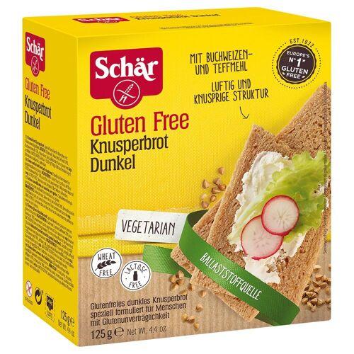 Schär 6 x 125 g Schär glutenfreies Knusperbrot Dunkel