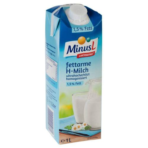 MinusL 10 x 1 L Laktosefreie H-Milch 1,5 % Fett