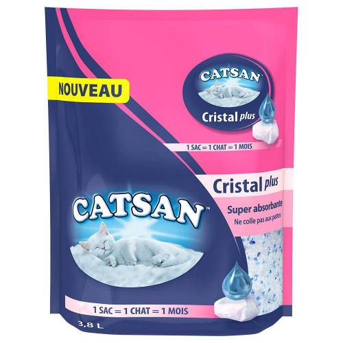 Catsan 3,8 Liter Catsan Cristal Plus Silica Katzenstreu