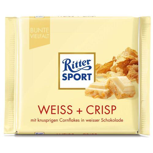 Ritter Sport Weiss + Crisp Schokolade (10 x 100 g)