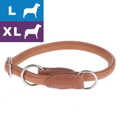 Hunter Hundehalsband Round & Soft Elk cognac - max. 55 cm, Ø 10mm