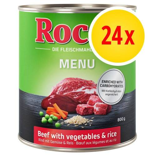 Rocco 24 x 800g Rind Rocco Menü Hundefutter nass