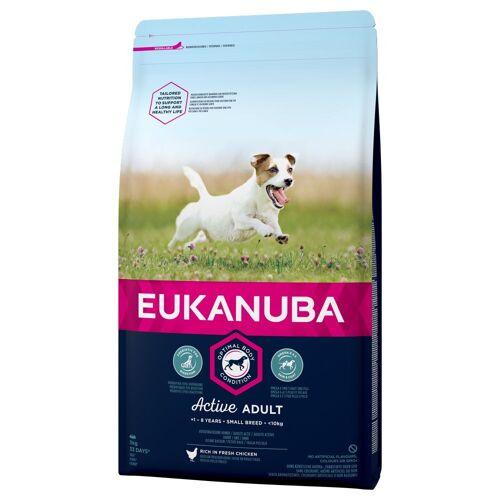 Eukanuba 3 x 3kg Adult Small Breed Huhn Eukanuba Active Hundefutter trocken