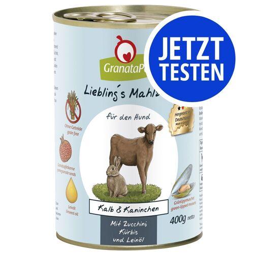 Granatapet 24 x 400g Mix - 4 Sorten GranataPet Liebling's Mahlzeit Hundefutter nass